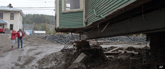VERMONT IRENE DAMAGE RECOVERY HISTORY FLOODING