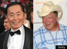 George Takei William Shatner Kiss