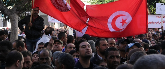 DEMONSTRATIONS TUNISIA WORKERS