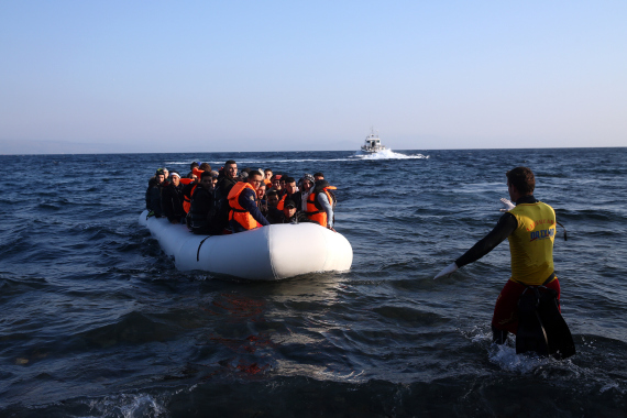 refugees sea greece