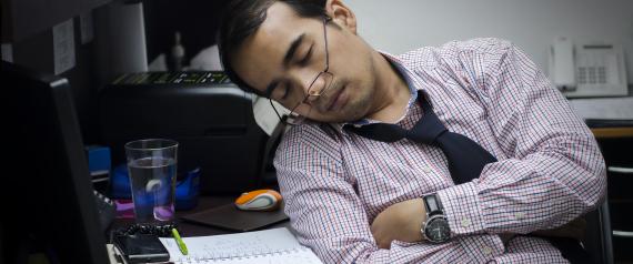 ASLEEP IN WORK