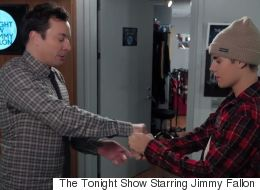 Justin Bieber And Jimmy Fallon's Secret Handshake Is Painfully Elaborate