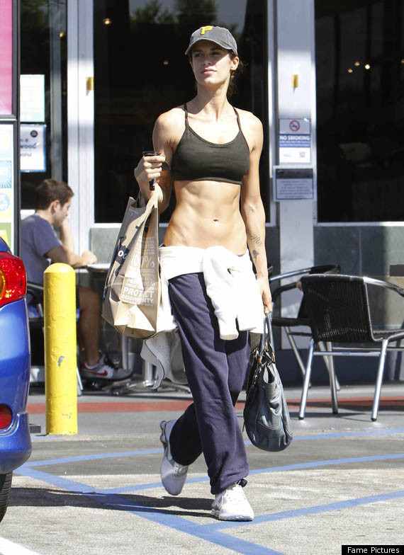 Elisabetta Canalis Goes Grocery Shopping In Sports Bra