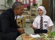 Obama con refugiados: