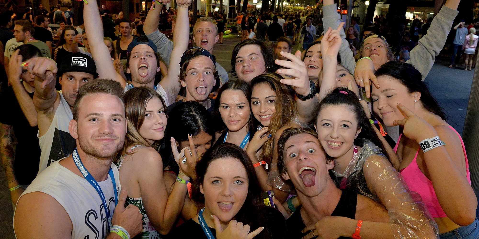 Police Blitz Opening Night At Gold Coast Schoolies