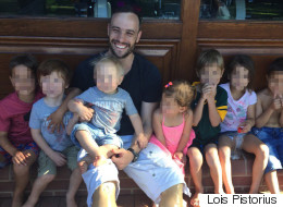 Pistorius Enjoys 29th Birthday Party Surrounded By Children
