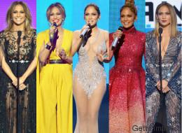 Los 10 'looks' de J. Lo en los AMAs se merecen una ovación de pie