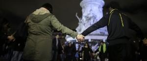 Paris Attack Holding Hands