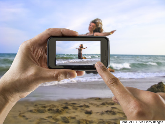 take picture with iphone