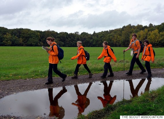 scouts walking
