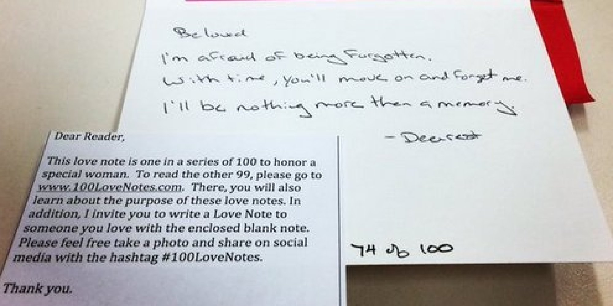 grieving husband writes 100 beautiful love letters for