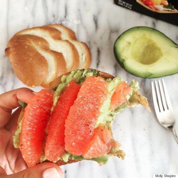 grapefruit avocado toast