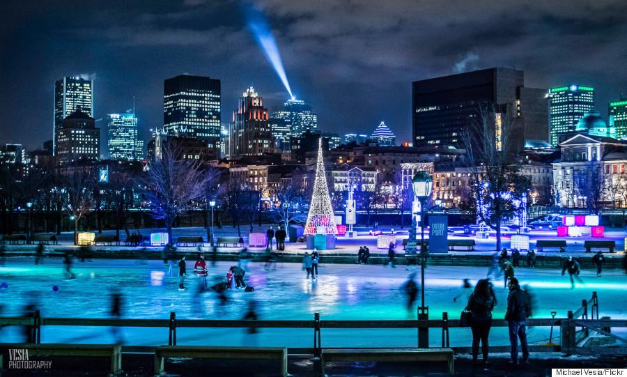 skating montreal winter
