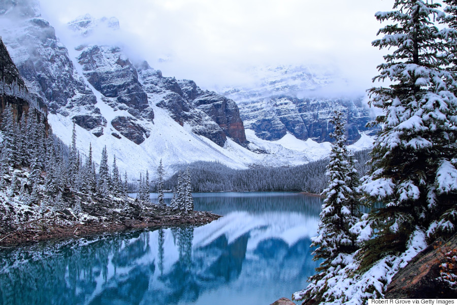 moraine lake alberta winter