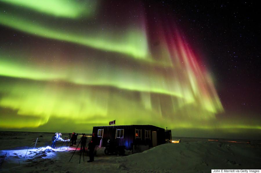 northern lights canada winter