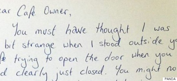 Mum Suffering From PND Pens Heartfelt Thank You Note To Café Owner