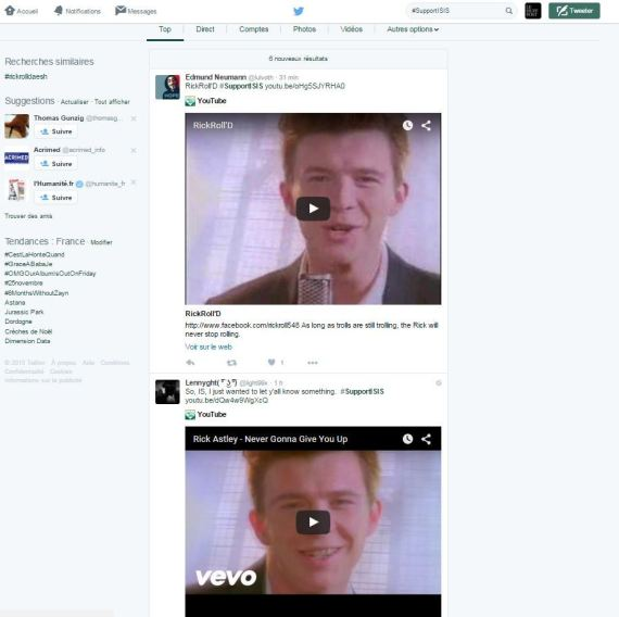 rick roll daesh