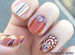 15 diseños de uñas para celebrar al pavo de Acción de Gracias