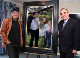 Alex Salmond Unveiled A New Painting At The National Portrait Gallery And Everyone Is Laughing