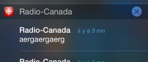 ALERTES RADIO CANADA