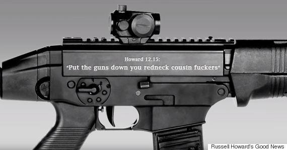 usa american gun inscription