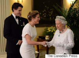 Sophie Grégoire-Trudeau Is Elegant In White To Meet The Queen