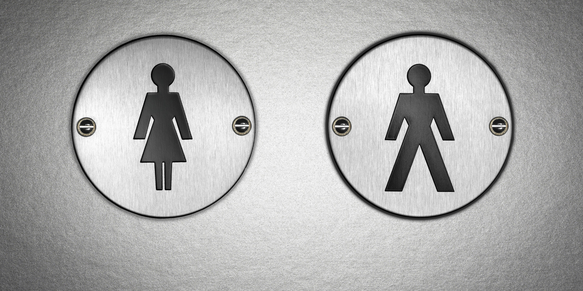 Bathroom Sign Texture debunking bathroom myths | huffpost