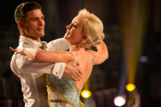 Helen and Aljaž perform their Viennese Waltz | Pic: BBC