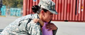 SOLDIER DAUGHTER EMBRACE
