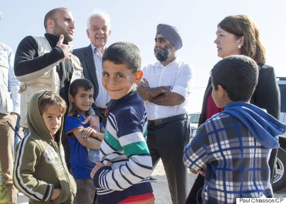 canada ministers refugee camp jordan