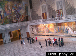 The Lobby Of Oslo City Hall Where Nobel Peace Priz