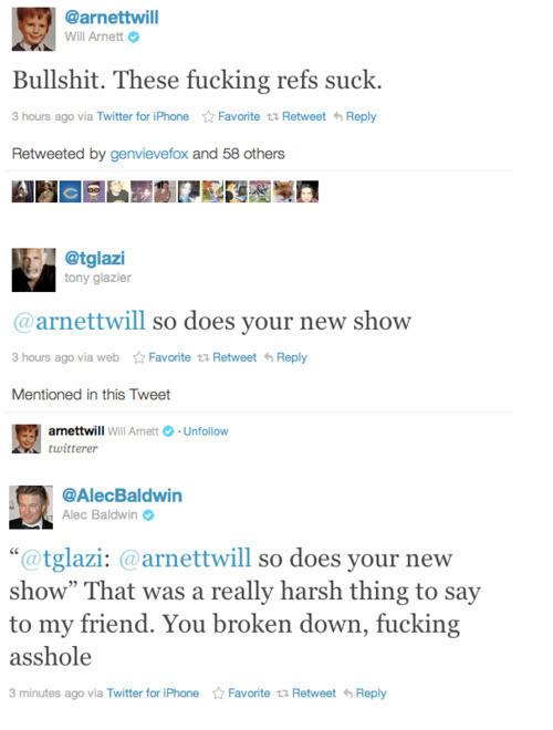 Will Arnett Twitter Al... Alec Baldwin Twitter