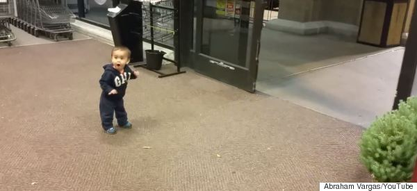 This Kid's Reaction To Seeing Automatic Doors For The First Time Is Utterly Priceless