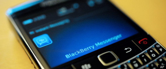 BLACKBERRY PROBLEMS REPORTED SERVICE DOWN