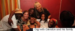 GIGI WITH GLENDON AND HIS FAMILY