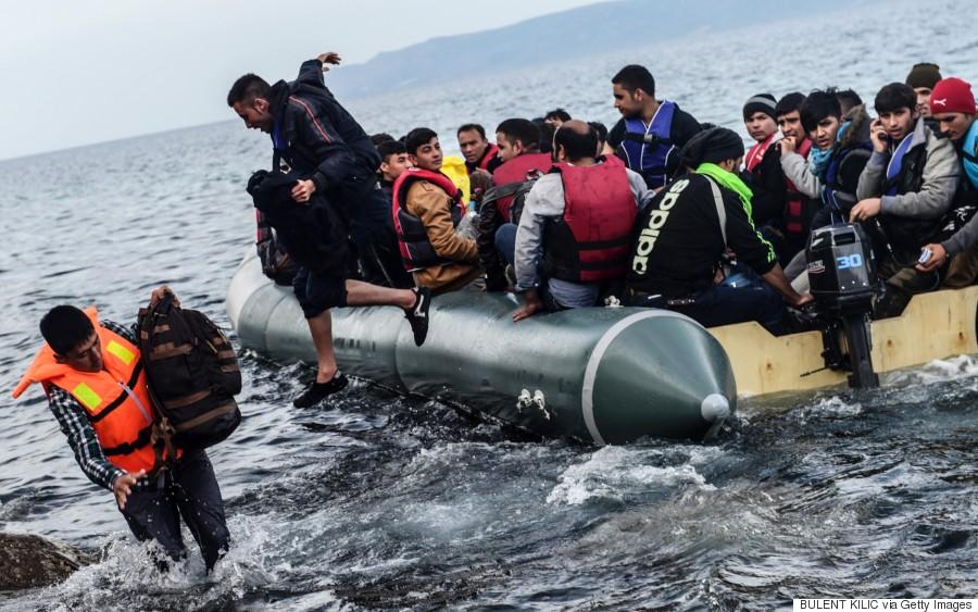 migrants lesvos