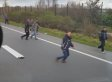 'Idiot' Truck Driver Films Himself Swerving Towards Refugees