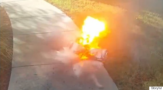 hoverboard explodes