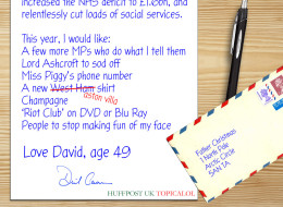 LEAKED: David Cameron's Letter To Father Christmas