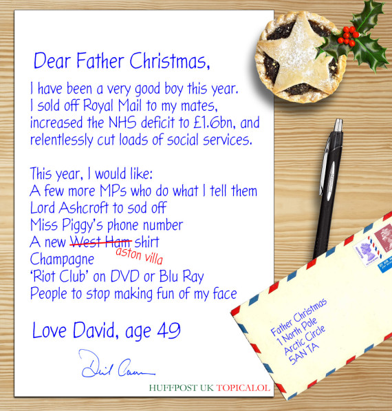 David camerons letter to father christmas leaked spiritdancerdesigns Gallery