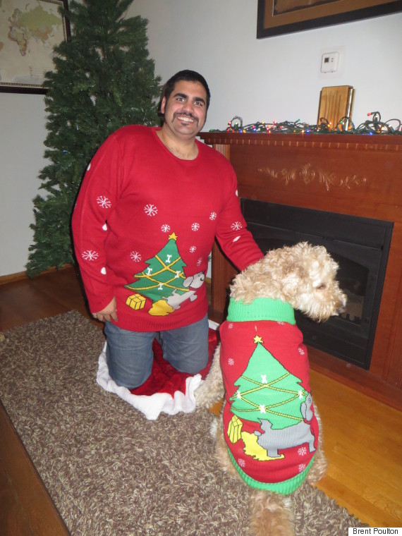 Ugly Christmas Sweaters Are Going To The Dogs (And Their Owners)
