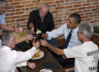 Obama, Construction Workers Toast To More Jobs
