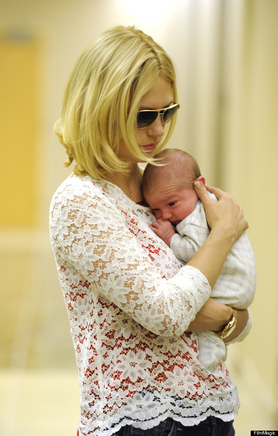 January Jones Reveals Baby Xander Photos Huffpost