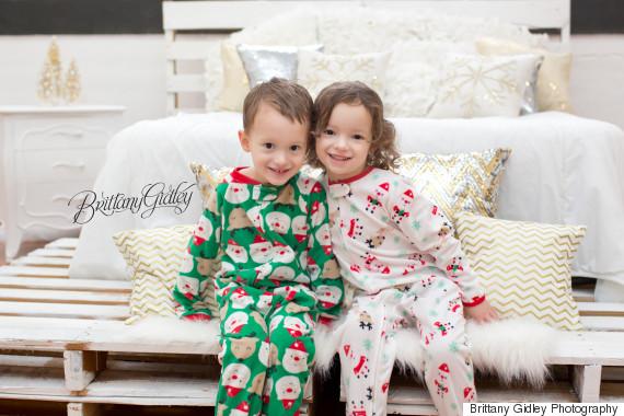 twins christmas morning