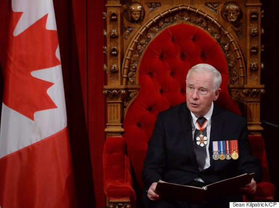 david johnston throne speech