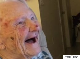 101 Year Old Charmed Us With Snow Video. Now She Does It Again