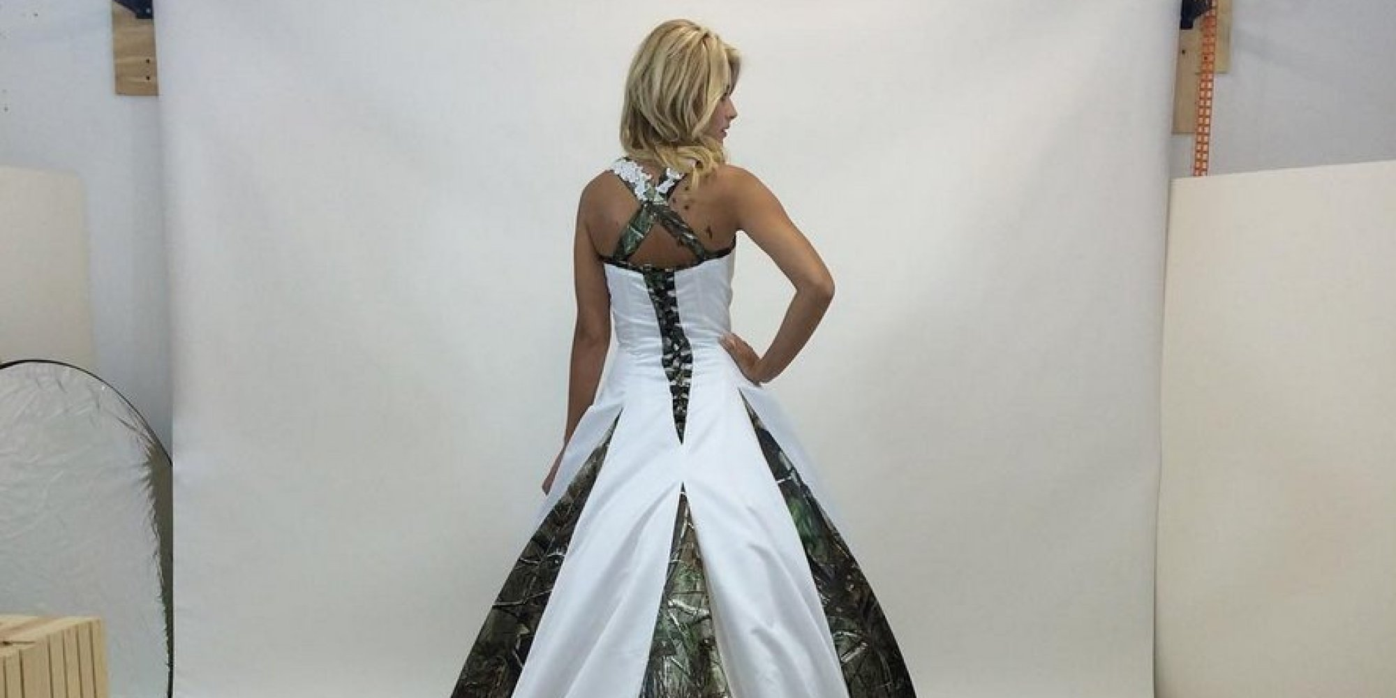 camo wedding dresses n white camo wedding dress Camouflage Wedding Dresses Are The Latest And Weirdest Bridal Trend HuffPost UK
