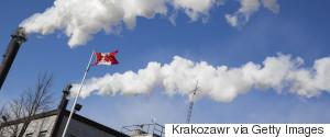 CANADA FLAG SMOKESTACK