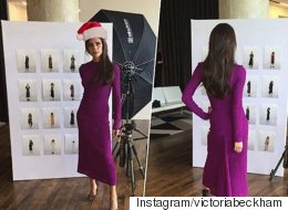 Victoria Beckham Unveils Her New Collection, Dressed In A Santa Hat