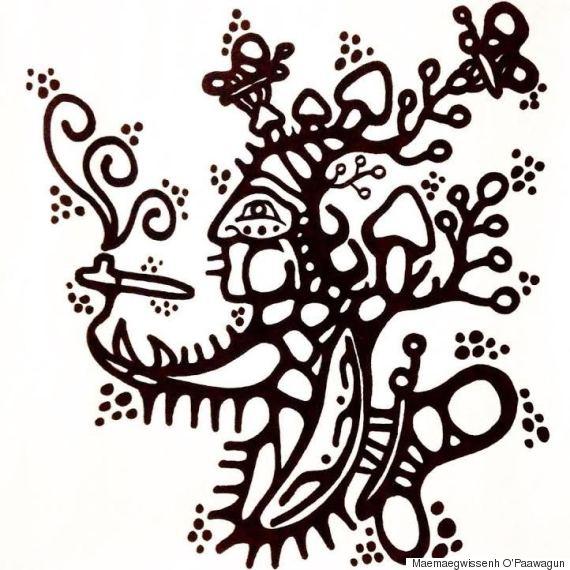 woodland style art